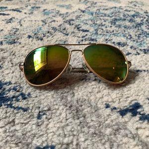 Jessica Simpson Colorful Aviator Sunglasses